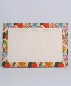 Semainier Fleurs Season Paper
