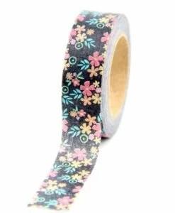 Masking tape Fleurs aquarelle