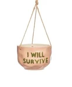 Cache-pot à suspendre I will survive