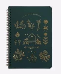 Carnet de recettes Mon jardin – Vert sapin