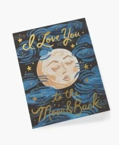 Carte amour To the moon and back Rifle Paper