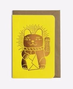 Carte Lucky cat Les Editions du Paon