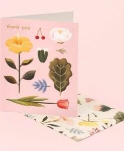 Carte remerciement Pastel Blossoms