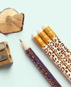 Crayons à papier Leopard Bleu