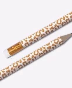 Crayons à papier Leopard Blanc