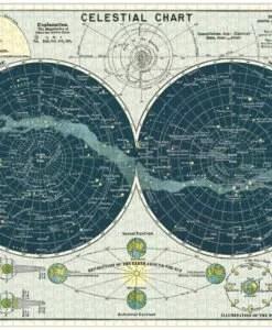 Puzzle Carte du ciel 1000 pièces Cavallini