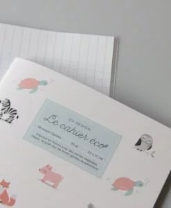 Cahier écolier Animaux Eco-responsable