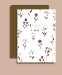 Carte Love you Minimel