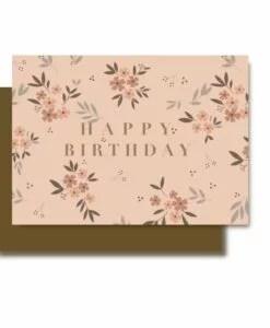 Carte anniversaire Happy birthday Minimel