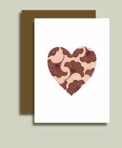 Carte Coeur de wax Minimel