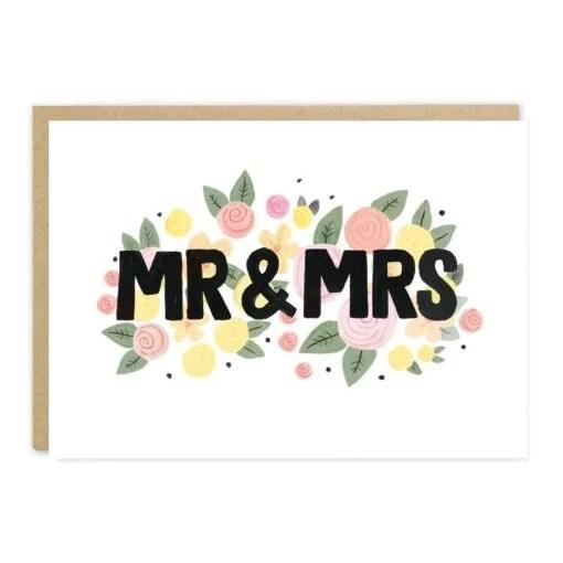 Carte couple Mr & Mrs Jade Fisher