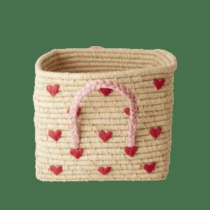 Panière de rangement 30 cm – Petits coeurs