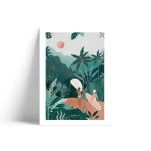 Affiche Jungle Vibes Les Rideuses A4