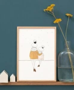 Affiche Love Mum And Girl Winter