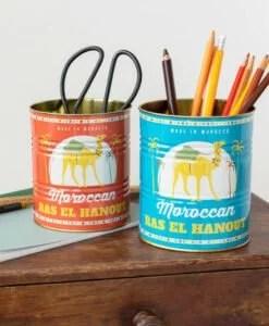 Set de 2 pots en métal – Boîtes de conserve Marocaines