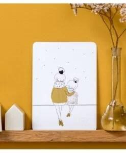 Carte Love Mum And Girl Winter