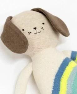 Peluche chien pull arc-en-ciel Meri Meri