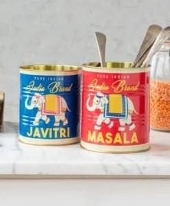 Set de 2 pots en métal – Boîtes de conserve Masala Et Javitri