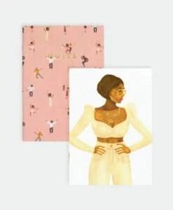 Carnets de poche Dancers & Love Lady – lot de 2