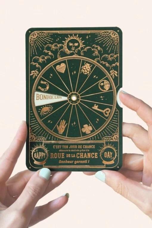 Carte disque Roue de la chance Vert sapin