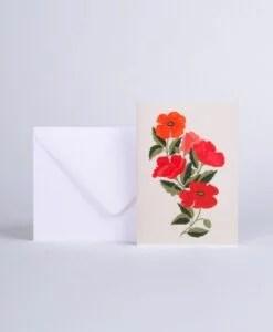 Carte Coquelicots Season Paper