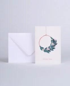 Carte Joyeuses Fêtes Couronne Season Paper