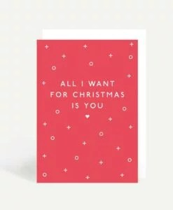 Carte Noël All I want for Christmas