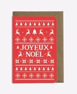Carte Broderie Noël Editions du Paon