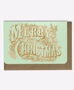 Carte Merry Christmas Editions du Paon