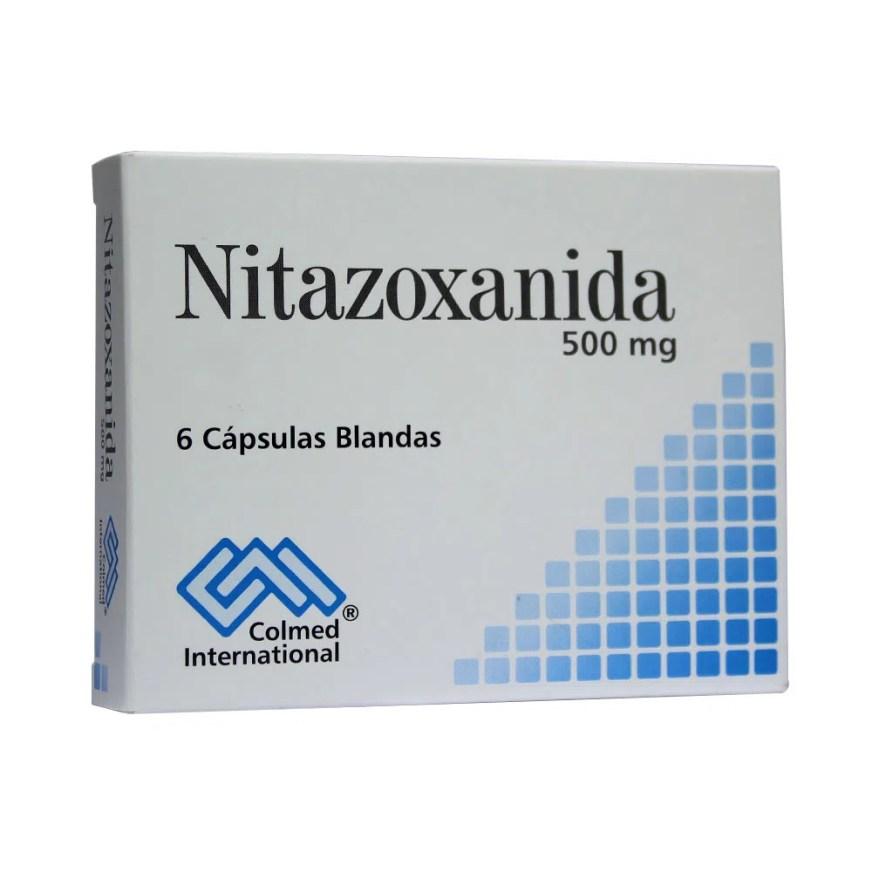 NITAZOXANIDA COLMED CÁPSULAS BLANDAS 500 MG - Farmacia ...