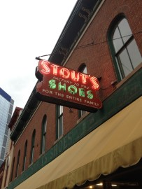 Stout's Shoe store. The oldest shoe store in America (1886)