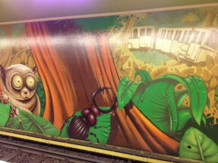Artwork along the U-Bahn.