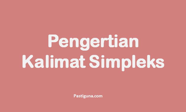 pengertian kalimat simpleks