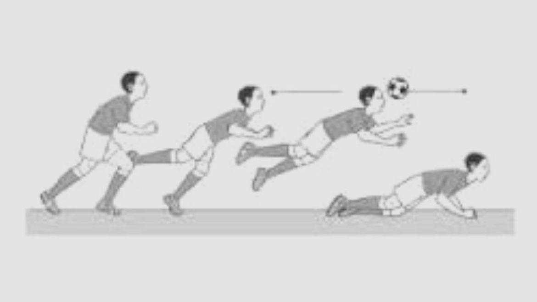 Teknik Menyundul Bola dengan Sikap Melayang