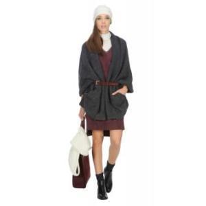 overcoat fringes b stefanel