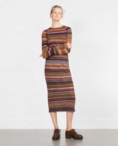 fusta dreapta tricot ZARA