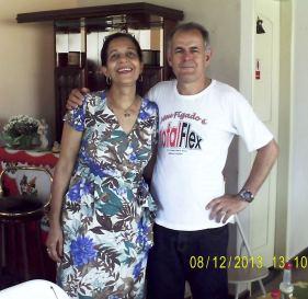 Os Anfitriões Mauro e Estela, casal Joia Rara.