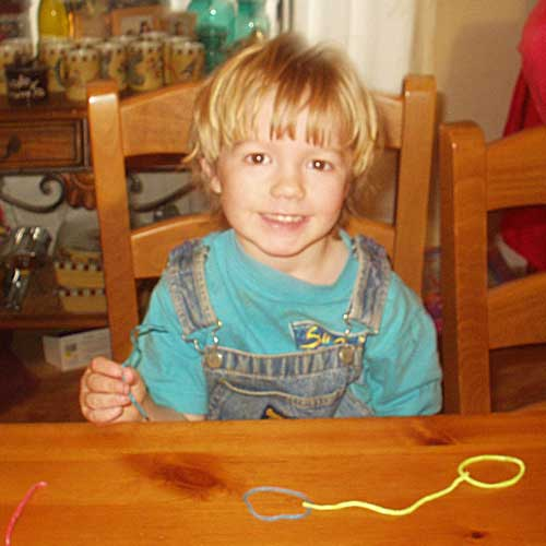 Asa with Wikki Stix