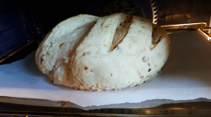 Preparing Bread for Thanksgiving Turkey Stuffing