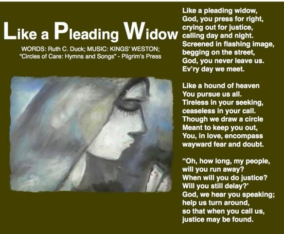 Like a Pleading Widow