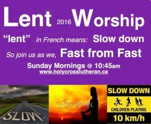 Lenten Worship 2016