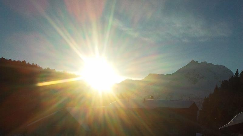 Sole d'inverno a Maloja