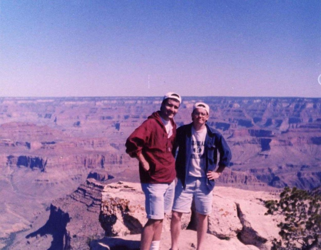 Tate and I at the Grand Canyon almost 20 years ago . . .