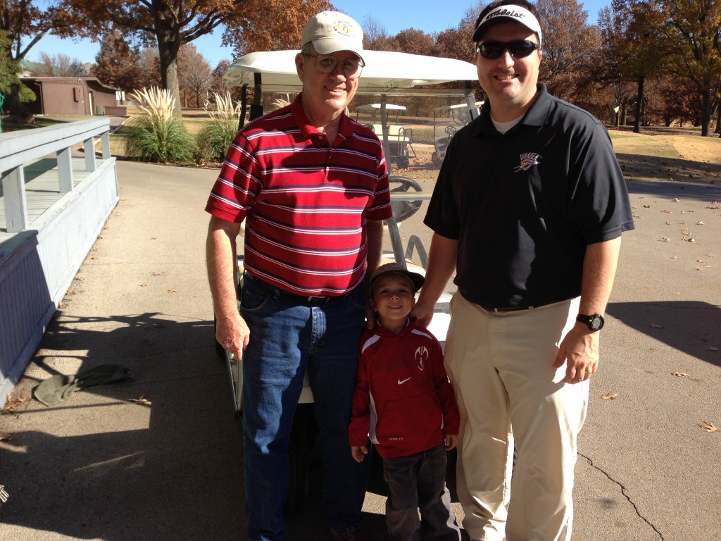 Josh and I got to play a round of golf with my Dad over Thanksgiving.