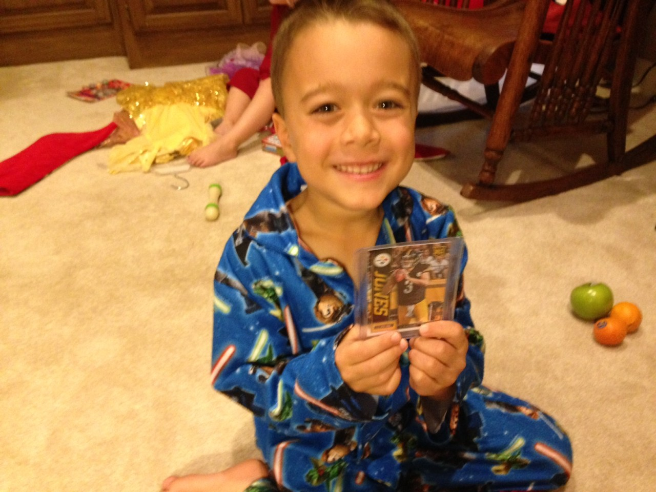 Josh with his new Landry Jones Rookie Card.