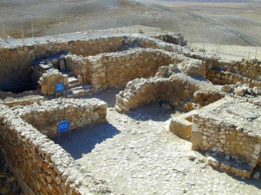 The Temple ruins at Arad