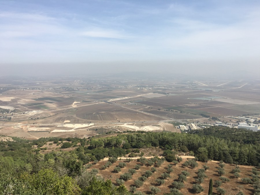 """The view from atop Mount Carmel.  I see a """"cloud as small as a hand"""""""