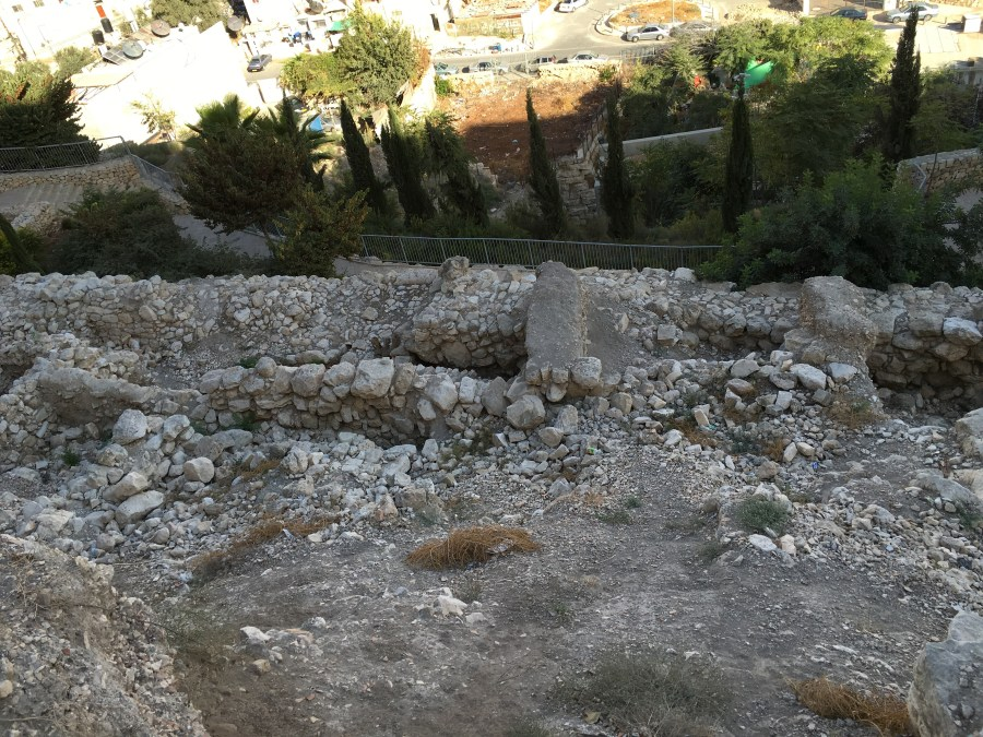 "A very small section of the ""wall"" you see below is all that remains of the wall Nehemiah and the Israelites built upon returning to the city after exile."
