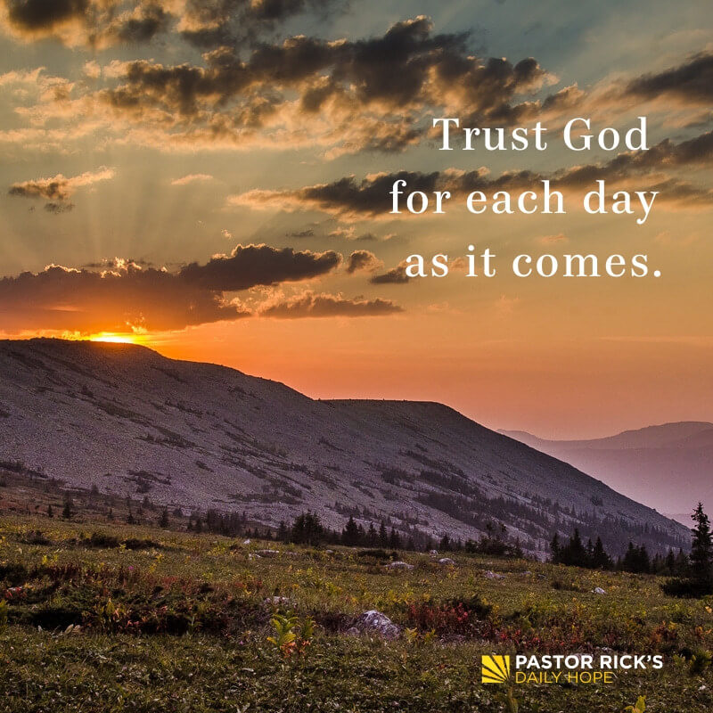 trust jesus for one