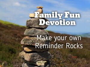 family fun devotion based on Joshua